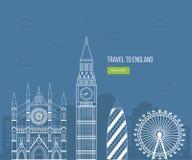 Lopp för design för London Förenade kungariket lägenhetsymboler Royaltyfria Foton