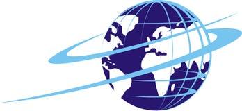 lopp för jordklotsymbolslogo royaltyfri illustrationer