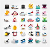 lopp för samlingssymbolssymbol Royaltyfria Bilder
