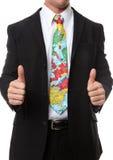 lopp för tie för affärsman Fotografering för Bildbyråer