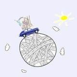 lopp för toy för bilEuropa översikt Arkivbild
