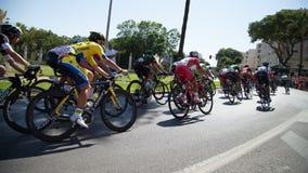 Lopp för Vuelta de España cirkuleringsväg Arkivbild