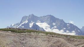 Lopp i bergen Fotografering för Bildbyråer