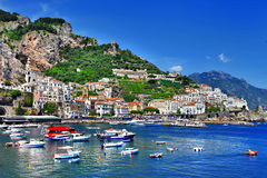 Lopp i den Italien serien - Amalfi Royaltyfri Bild