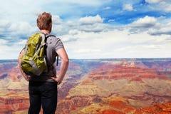 Lopp i Grand Canyon fotografering för bildbyråer