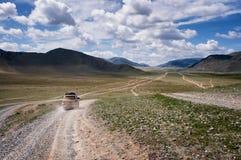 Lopp i Mongoliet Arkivfoton