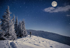 Lopp i vinterberg Royaltyfri Bild