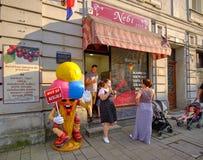 Lopp i Zagreb arkivbild