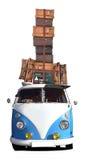 Lopp med Buss Royaltyfria Foton