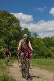 Lopp med cykeln Arkivfoton