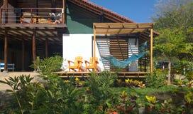 Lopp Nicaragua: strandhydda Arkivbilder