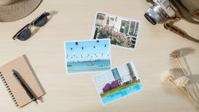 Lopp- och semesterfotoramar och objekt Royaltyfri Fotografi