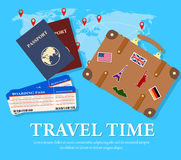 Lopp- och turismbegrepp Arkivbilder