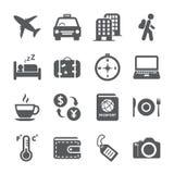 Lopp- och turismsymbolsuppsättning, vektor eps10 Arkivfoton