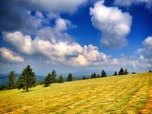 Lopp på bosnisk mountaine Arkivfoton