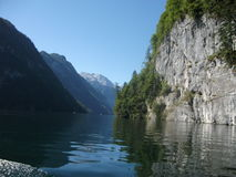 Lopp på en sjö i Tyskland Royaltyfria Bilder