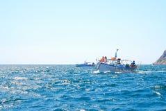 Lopp på fartyget till Black Sea Arkivbild