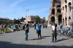 Lopp på Rome Italien Royaltyfria Bilder