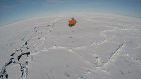 Lopp p? isbrytaren i isen, Antarktis arkivfilmer