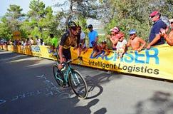 Lopp Rider Koen Bouman för LaVuelta España cirkulering royaltyfri foto