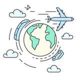 Lopp runt om jorden, transport Arkivfoton