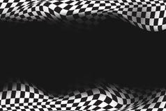 Lopp rutig flaggabakgrund Fotografering för Bildbyråer