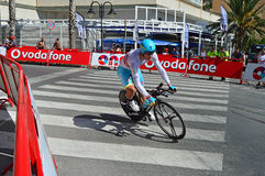 Lopp Team Astana Rider för LaVuelta España cirkulering fotografering för bildbyråer