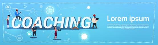 Lopp Team Concept för blandning för coachning för utbildning för teamwork för affärsfolk royaltyfri illustrationer