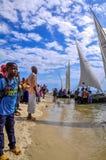 Lopp Tid på Zanzibar - Tanzania arkivbilder