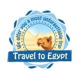 Lopp till den Egypten advertizingen för loppbyråer vektor illustrationer