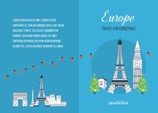 Lopp till Europa för jul glad jul Royaltyfri Foto