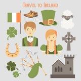 Lopp till Irland Arkivbild