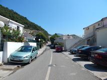 Lopp till Montenegro på Adriatiskt havet arkivbild