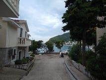 Lopp till Montenegro på Adriatiskt havet arkivbilder