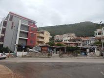 Lopp till Montenegro på Adriatiskt havet arkivfoton