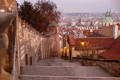 Lopp till Prague, Tjeckien Sight Royaltyfria Foton