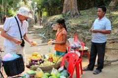 Lopp till Prasat Preah Khan Arkivfoton