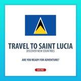 Lopp till St Lucia Upptäck och undersök nya länder Affärsföretagtur royaltyfri illustrationer
