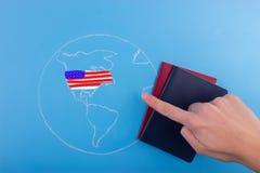 Lopp till USA begreppet royaltyfria bilder