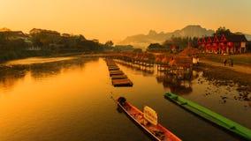 Lopp till Vang Vieng, Laos royaltyfri foto
