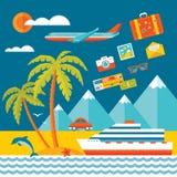 Lopp - vektorillustrationbegrepp i plan designstil för presentationen, advertizingen, häftet, affischen etc. Royaltyfri Foto