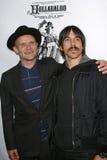 Loppa och Anthony Kiedis royaltyfri fotografi