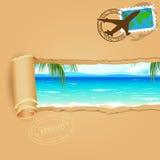 Loppbakgrund för havsstrand royaltyfri illustrationer