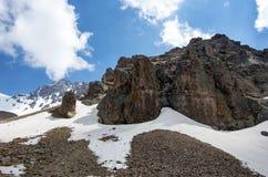 Loppbegreppsfoto; Turkiet Kayseri Erciyes berg royaltyfri foto