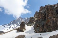Loppbegreppsfoto; Turkiet Kayseri Erciyes berg fotografering för bildbyråer