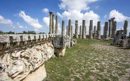 Loppbegreppsfoto Uzuncaburc historisk forntida stad Mersin/Turkiet arkivbilder