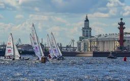 Loppet för den europeiska seglingen kämpar för ligan från 11 till 13 Fotografering för Bildbyråer