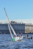 Loppet för den europeiska seglingen kämpar för ligan från 11 till 13 Royaltyfri Bild