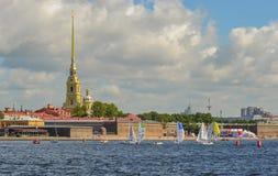 Loppet för den europeiska seglingen kämpar för ligan från 11 till 13 Royaltyfria Bilder