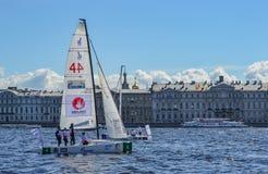 Loppet för den europeiska seglingen kämpar för ligan från 11 till 13 Arkivbild
